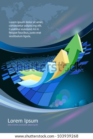 Abstract business arrow- brochure  background
