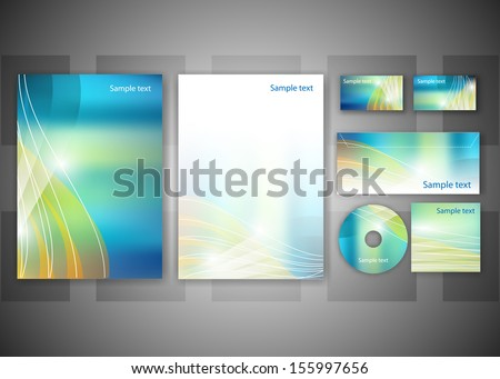 Abstract business background - vector illustration for your business card or brochure design. - stock vector