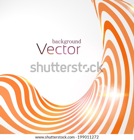 Abstract business background with 3d lines - stock vector