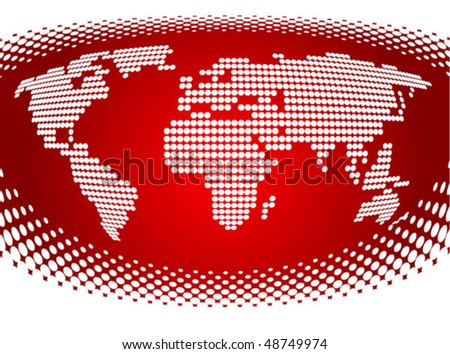 Abstract business background with dotted map. Vector - stock vector
