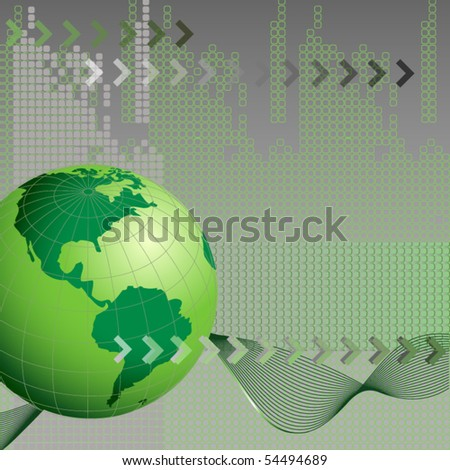 abstract business background with earth