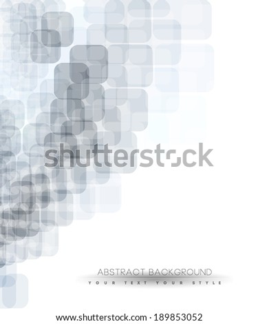 Abstract business background with grey squares, minimal concept background design. - stock vector