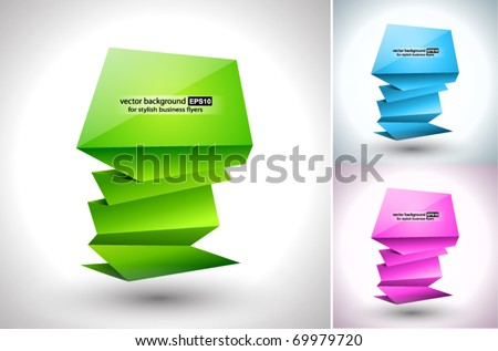 Abstract Business Background with stylish paper Stands - stock vector