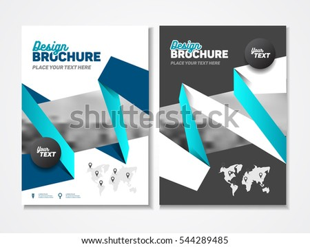 Abstract Business Brochure Design Vector Template In A Size Document Or Book Cover Annual