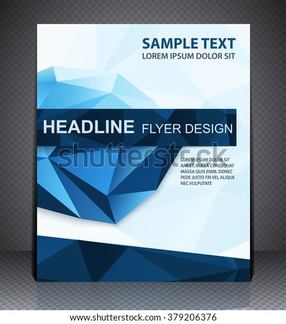 Abstract business brochure flyer, geometric design in A4 size, l