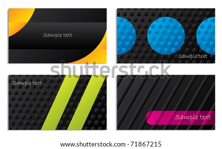 Abstract business card designs - stock vector