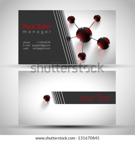 Abstract business card front back design stock photo photo vector abstract business card front and back design colourmoves Image collections