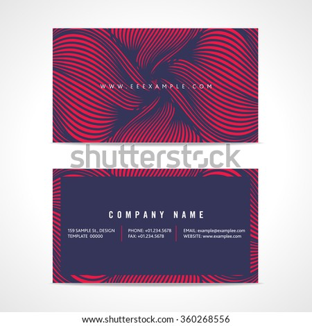 Abstract Business Card Template - stock vector