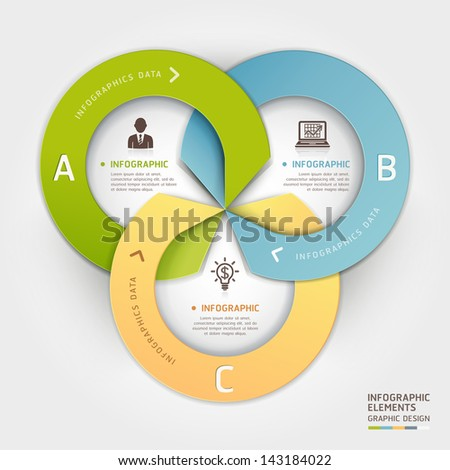 Abstract business circle origami style options banner. Vector illustration. can be used for workflow layout, diagram, number options, step up options, web design, infographics. - stock vector