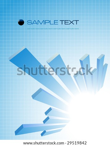 abstract business composition - vector illustration - jpeg version in my portfolio - stock vector