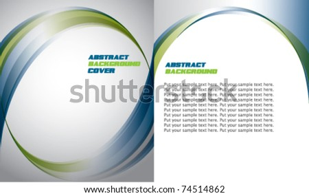Abstract business corporate template design - stock vector