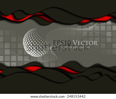 Abstract business design and cutout elements. Vector illustration - stock vector
