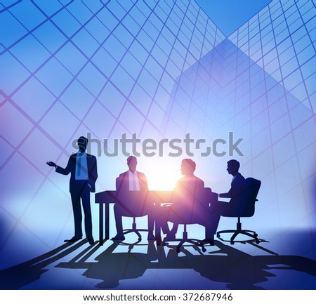Abstract  business meeting - stock vector