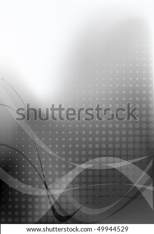 Abstract business presentation background with dots in grey - stock vector