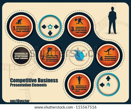 Abstract business presentation with space for text and different elements - stock vector
