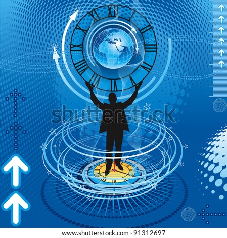 Abstract business success - stock vector