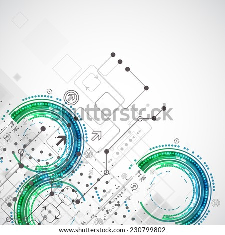 Abstract business template background. Technology theme vector - stock vector