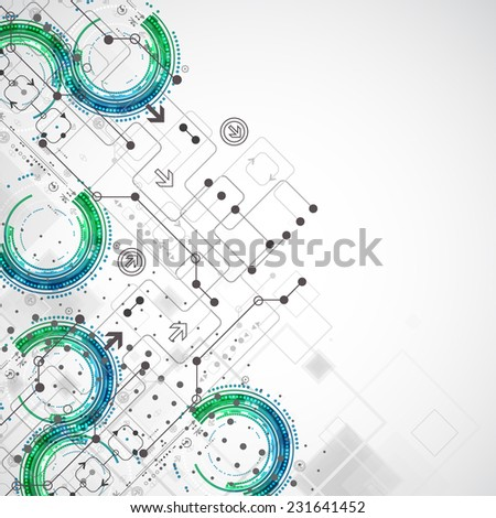Abstract business template background. Technology theme vector