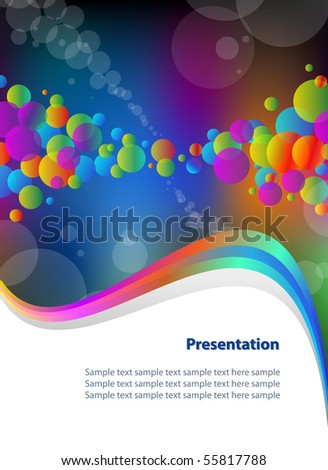 abstract business template with colorful bubbles