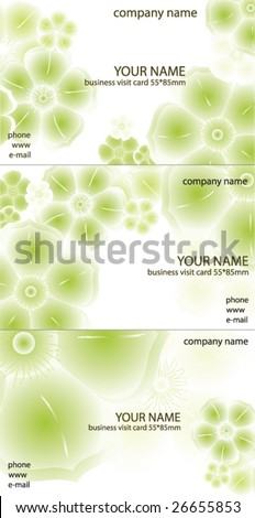 abstract business visit card design. vector