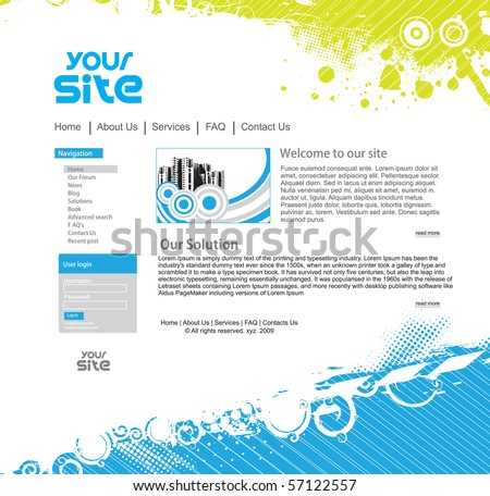 abstract business web site design template, vector illustration.