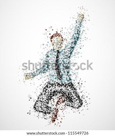 Abstract businessman from circles. Eps 10 - stock vector