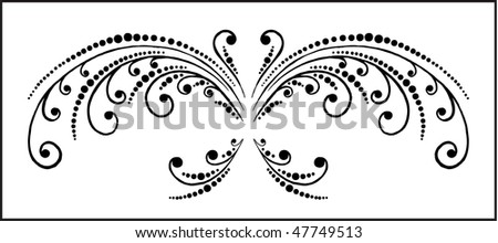 abstract butterfly - stock vector