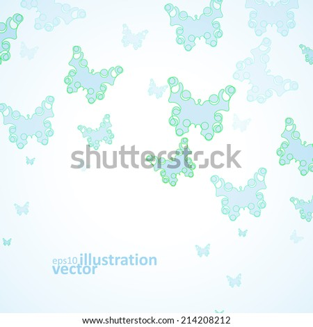 Abstract Butterfly background, futuristic art illustration eps10