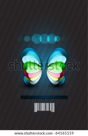 Abstract butterfly. Glass vector shape. Conceptual illustration - stock vector