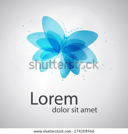 Abstract butterfly shape. Abstract SPA Health beauty logo template. Business abstract logo. As sign, symbol, web, label. Vector illustration. - stock vector