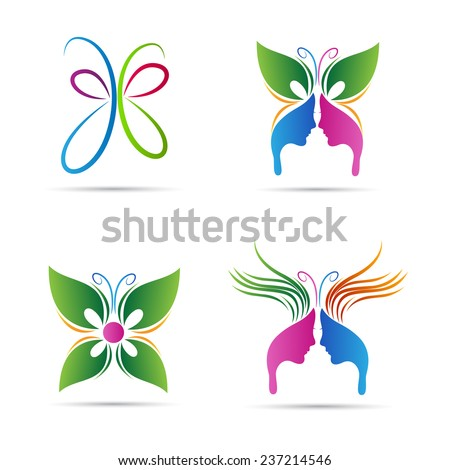 Abstract butterfly vector  Abstract Butterfly Logos