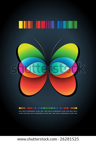 abstract butterfly vector poster template. - stock vector