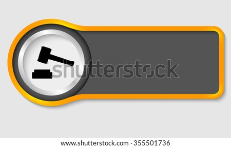 Abstract button for your white text and lawyer symbol - stock vector