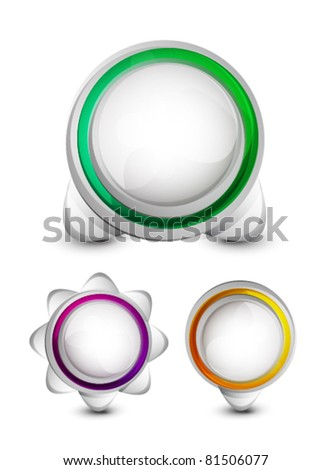 Abstract buttons - stock vector
