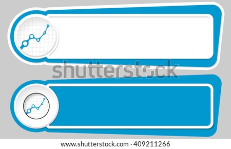 Abstract buttons for your text and graph - stock vector