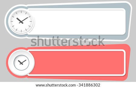 Abstract buttons for your text and watches - stock vector