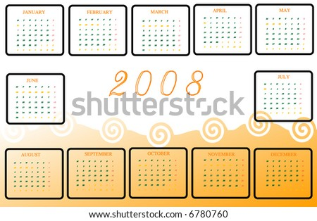 Abstract calendar - stock vector