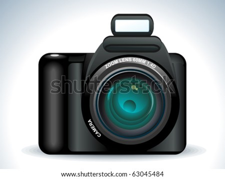 abstract camera icon vector illustration