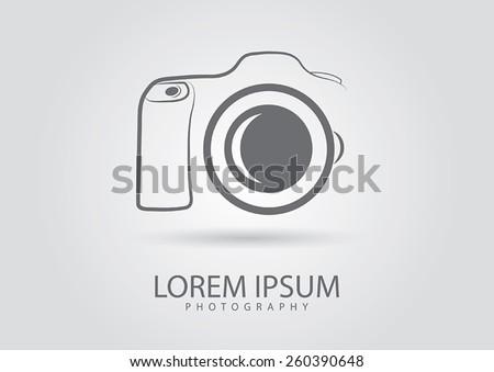 abstract camera logo camera icon design silhouette stock