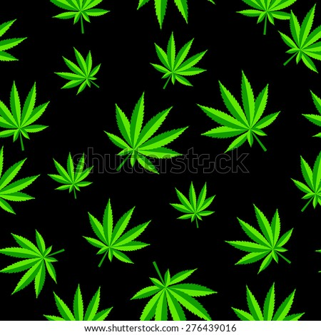 Abstract Cannabis Seamless Pattern Background Vector Illustration EPS10 - stock vector