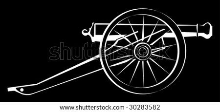 abstract cannon - stock vector