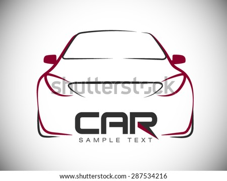 abstract car sport racing vector logo template - stock vector