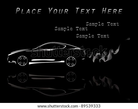 abstract car vector - stock vector