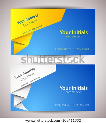 Abstract cards - stock vector