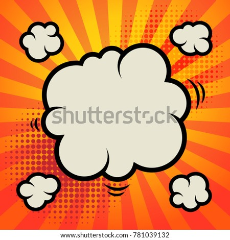 Abstract cartoon comic color background, vector illustration