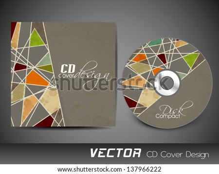 Abstract CD Cover design for your business. - stock vector