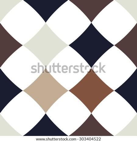 Abstract checkered black and white seamless vector background  - stock vector