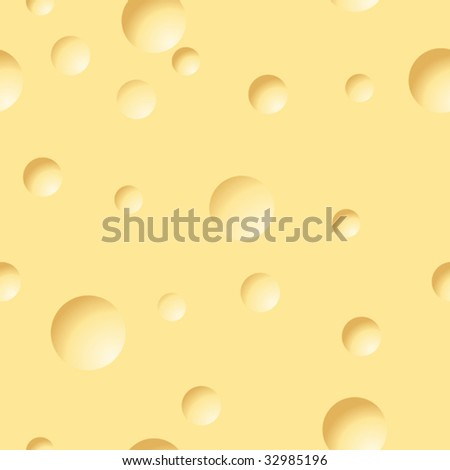 Abstract cheese background. Yellow palette. Seamless. Vector illustration.