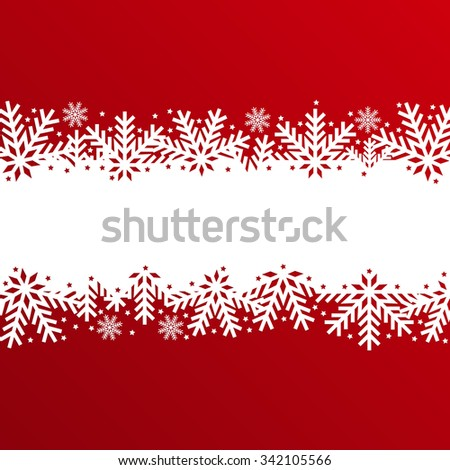 Abstract christmas background made of snowflakes and stars for your design - stock vector
