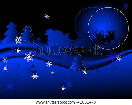 Abstract christmas background - vector illustration - stock vector